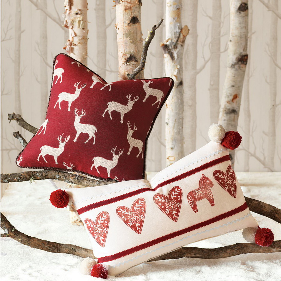 beautiful deer motive pillow modern christmas decorating ideas - Pillow Design Ideas