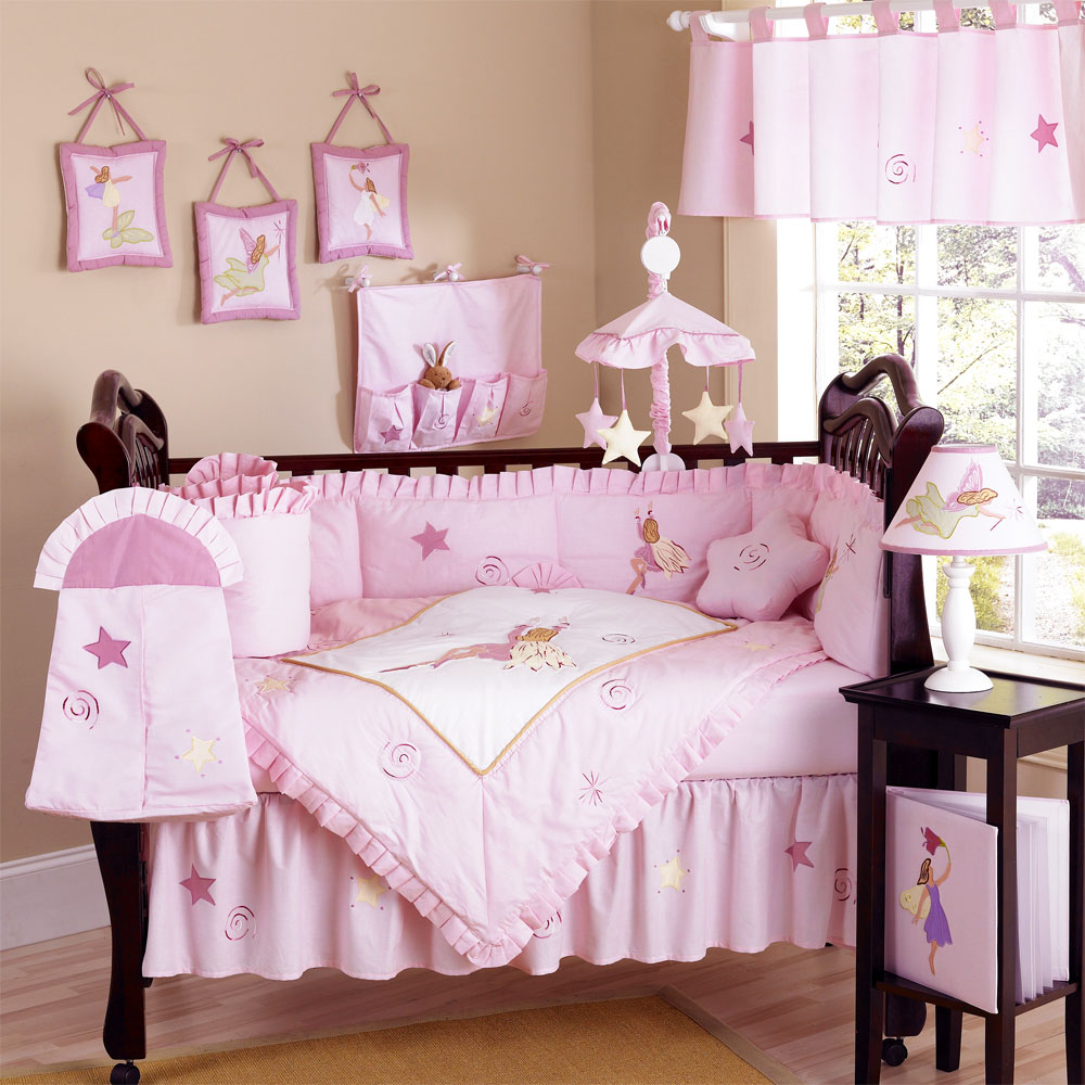 pink fairy tale bedding sets for cribs sets