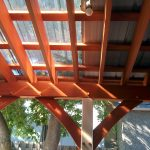 Polycarbonate Roof Panels With Woden Frame