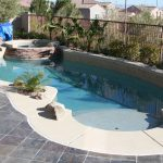 Pool Design For Small Yards With Simple Architecture