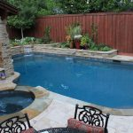 Pool Design For Small Yards With Stone Design And Furniture