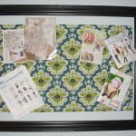 Pretty Fabric Cork Board With Cool Design