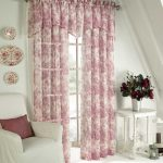 Pretty Red Toile Curtains In White Room