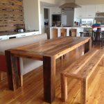 Pretty Solid Real Wood Dining Table With Bench