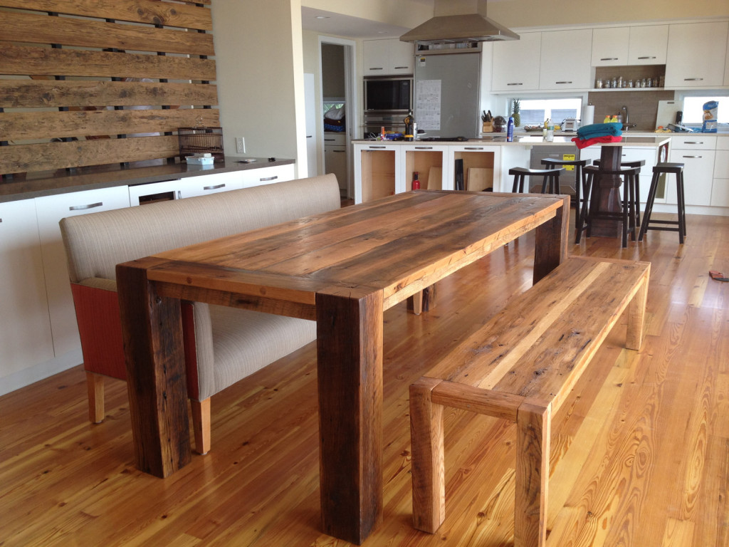 Pretty Solid Real Wood Dining Table With Bench. Real Wood Dining Table Review   HomesFeed