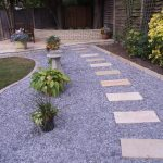 Purple Style Of Garden Footpath Designs