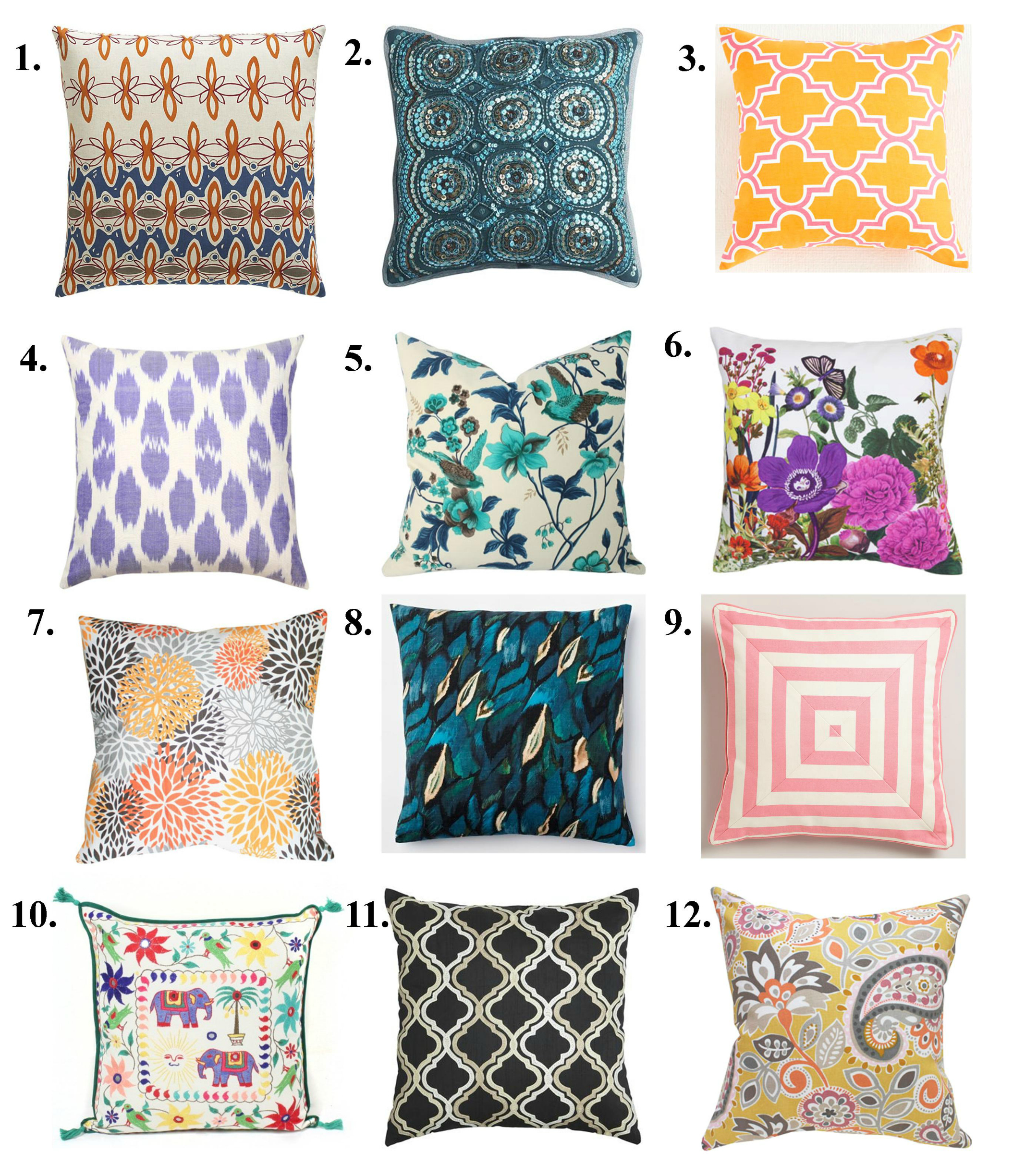 Random Optipns Of Pillows Design Ideas