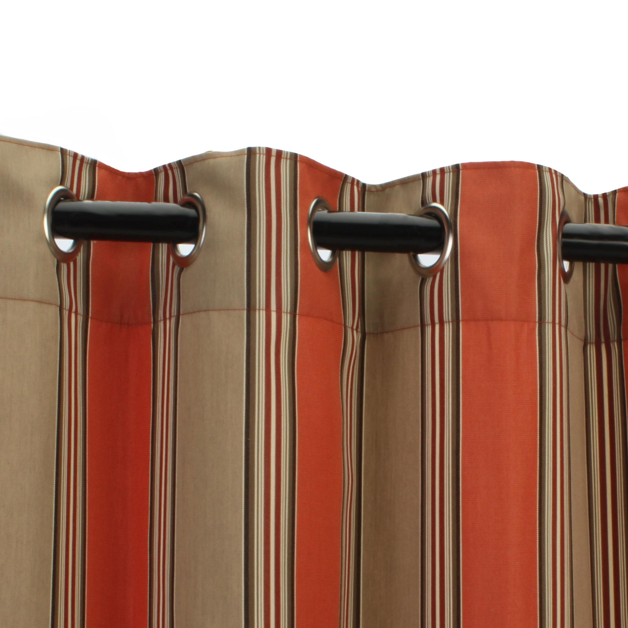 Striped outdoor curtains - Red Brown Striped Design Of Curtains Outdoor Curtain Panels