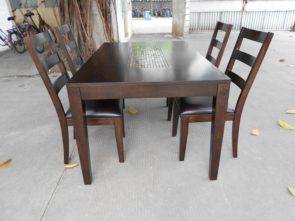 Wooden Dining Set ~ Real wood dining table review homesfeed