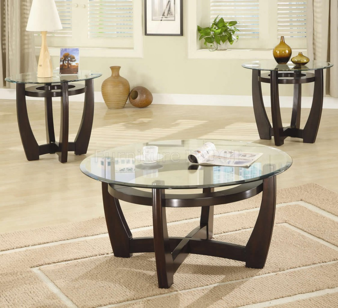 Cocktail table sets design homesfeed for Round coffee table sets