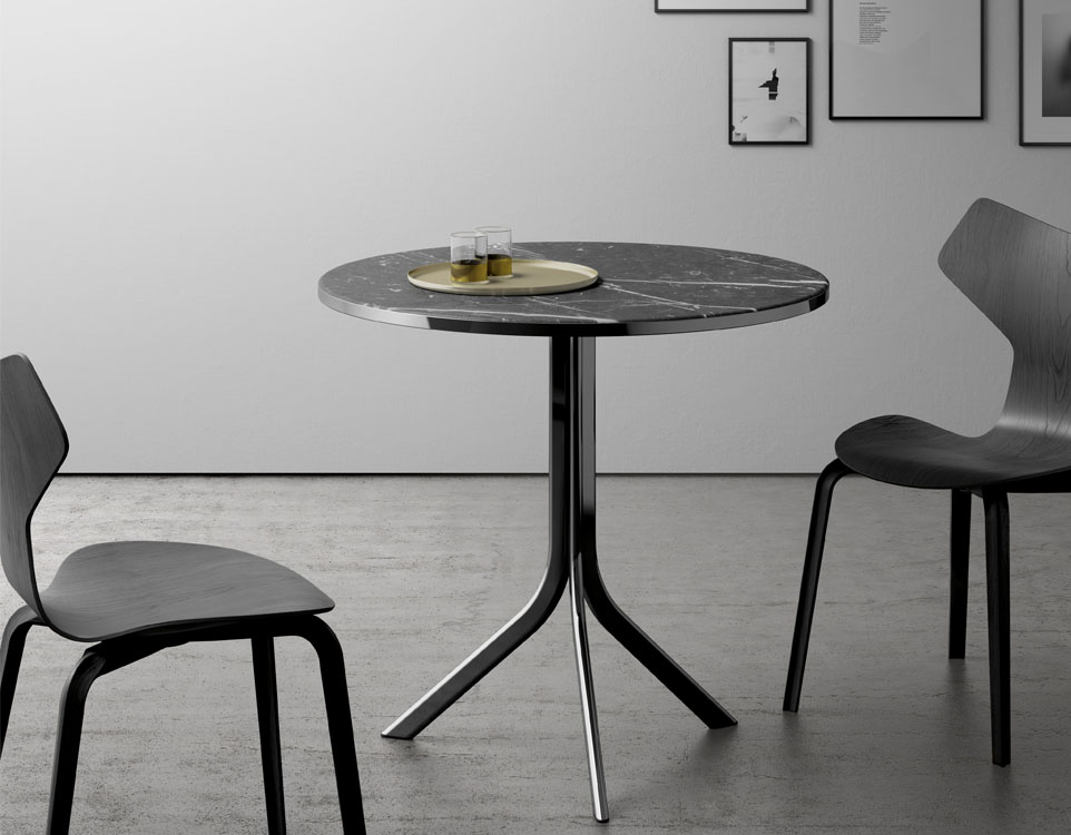 marble top bistro table for home or cafe homesfeed. Black Bedroom Furniture Sets. Home Design Ideas