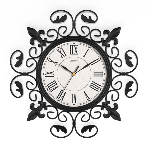 Modern nautical living room - Round Wall Clock With Classic Crafted Wrought Iron