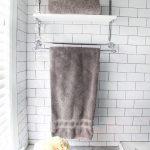 Shelves And Hanger Of Bathroom Storage For Towel