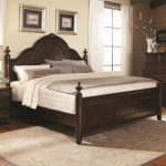 Simple Rug Area With Cal King Headboard Brown Wooden