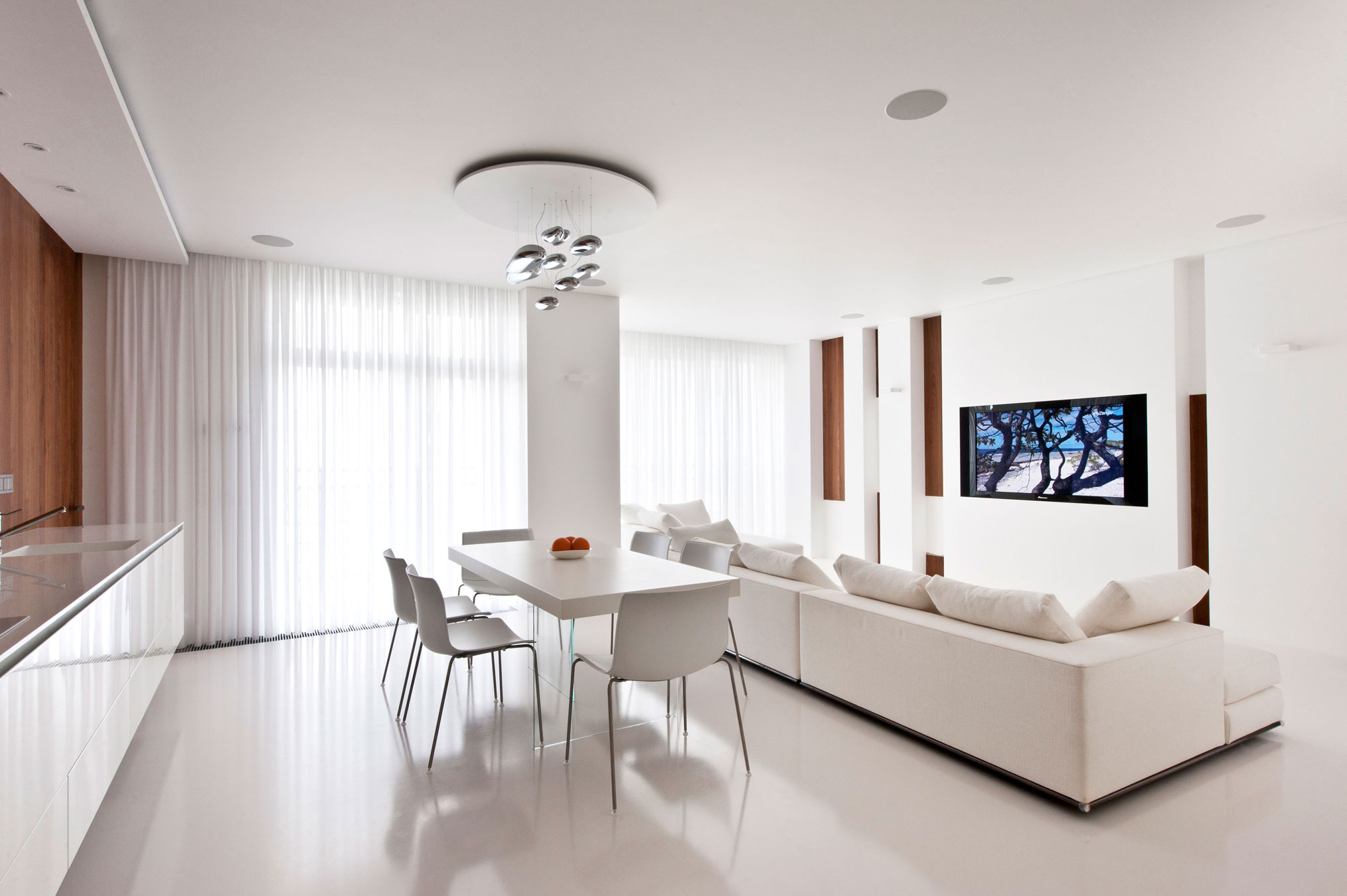 Modern apartment interior design homesfeed White interior design