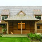 Simple Wooden House Designs With Sloping Roof