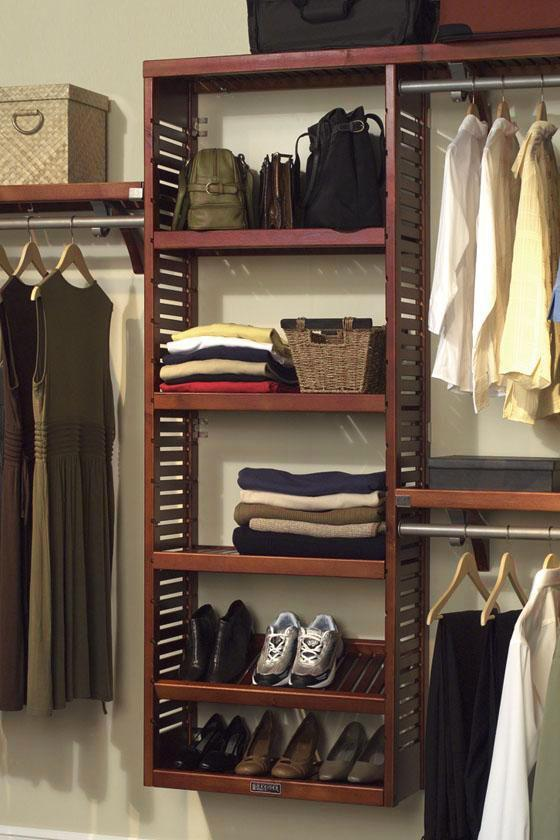 Simple Clothes Rack Consisting Of Wall Wooden Rack For Footwears Bags And  Folded Clothes Shelves With