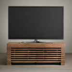 Simple wooden media cabinet for TV by IKEA
