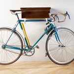 Simple wooden rack for a bicycle