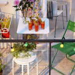 Small Balcony Furniture With Balcony Garden