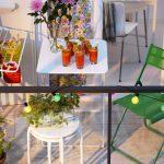 Small Balcony Furniture With Balcony Garden