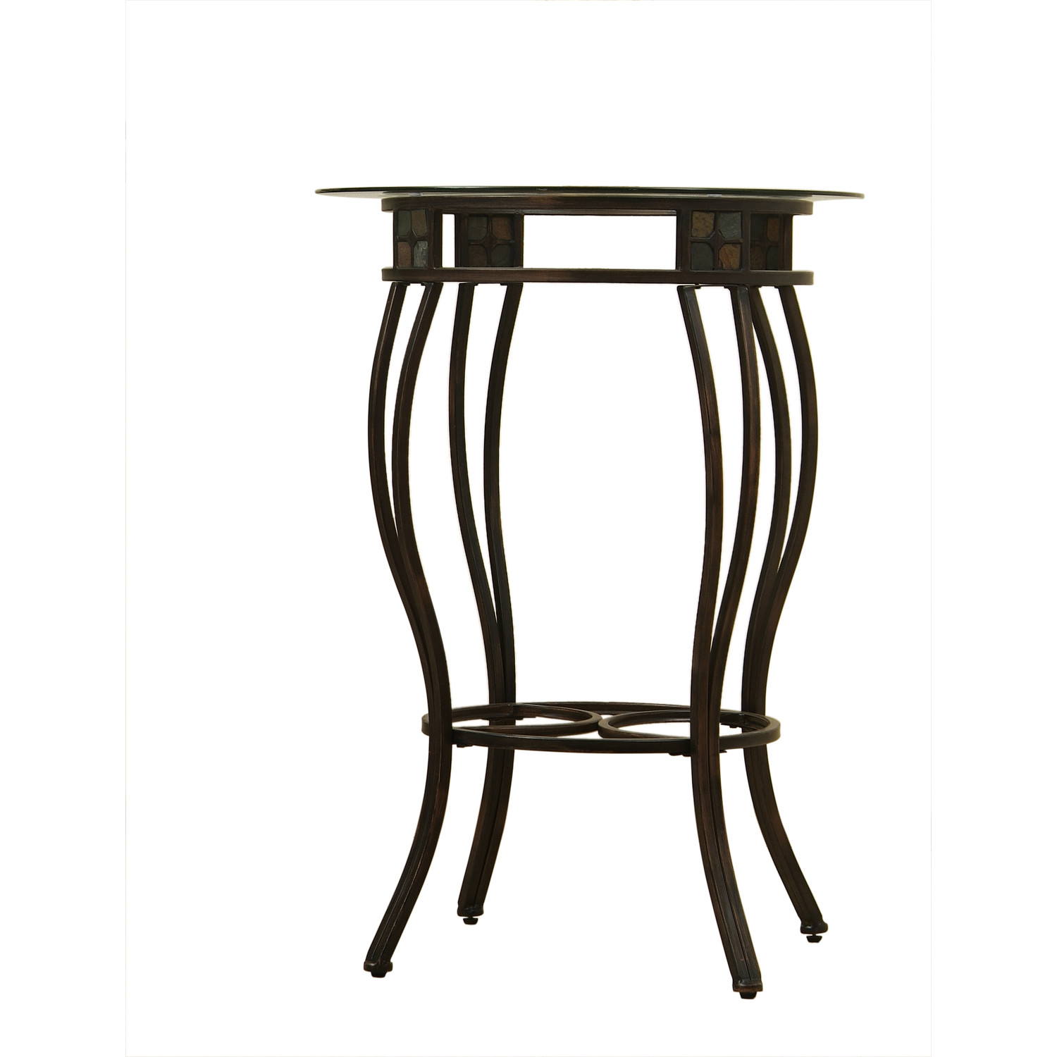 Small Round Industrial Pub Table With Long Legs
