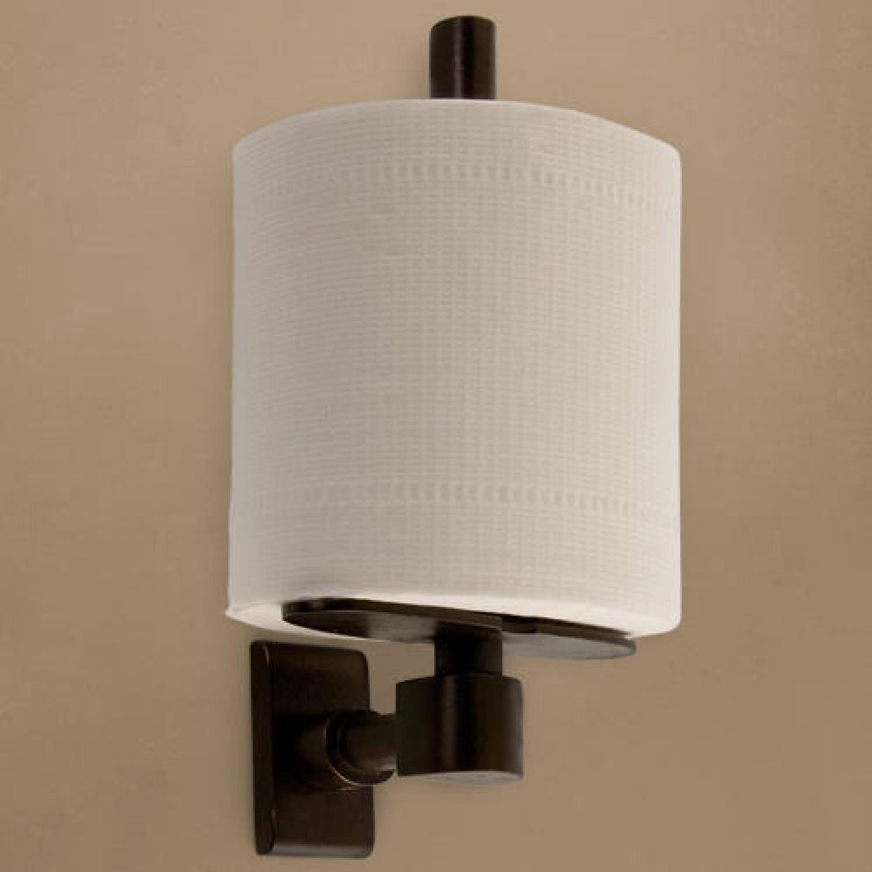 Solid Bronze Classique Vertical Toilet Paper Holder. Zoom
