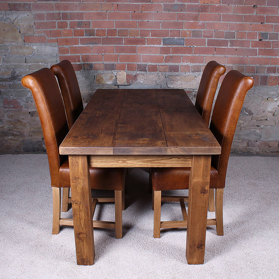 Solid Real Wood Dining Table With Leather Slipper Chairs. Real Wood Dining Table Review   HomesFeed