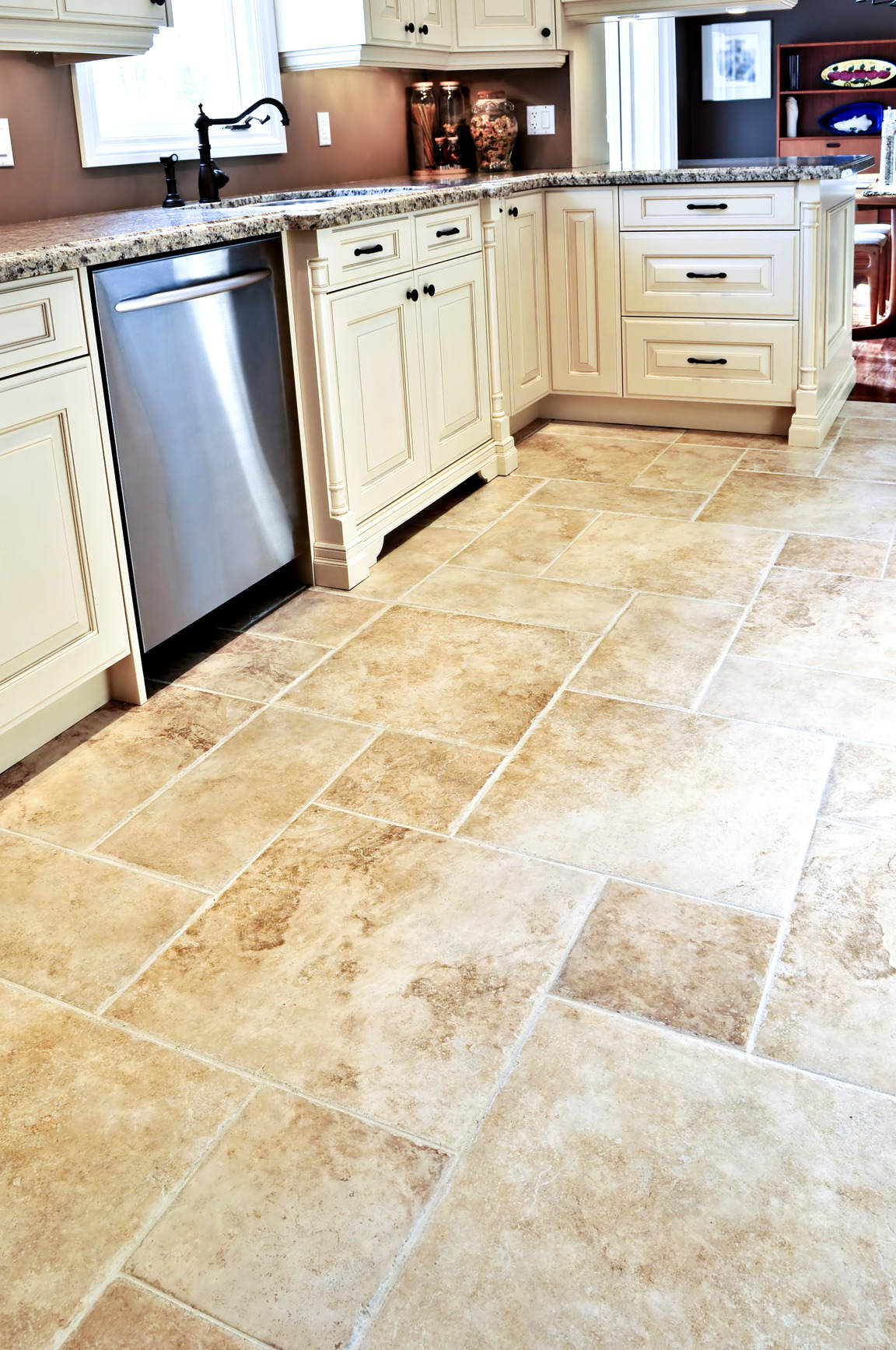 Rectangular floor tile design homesfeed tile floor in modern kitchen dailygadgetfo Gallery