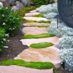 Stone And Grass Garden Footpath Designs