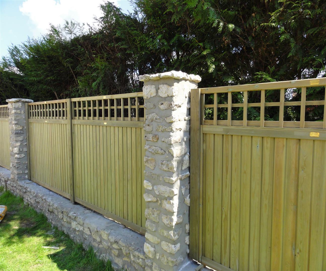 Stone Fence Pillars : Wall fence panels appliance homesfeed
