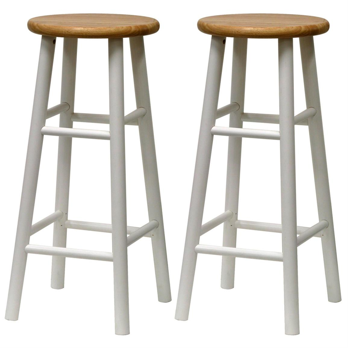 White Wood Bar Stools HomesFeed : Tall Round White Wood Bar Stools from homesfeed.com size 1155 x 1155 jpeg 73kB