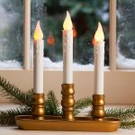 Triple Electric Candle Lights For Windows