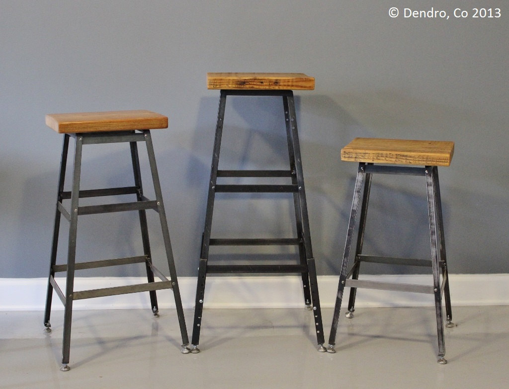 Awesome industrial style bar stools homesfeed for Industrial design bar stools