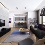 Unique Modern Apartment Interior Of Living Room