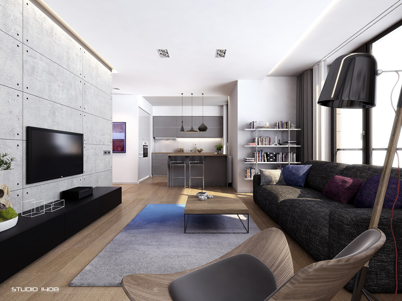Modern apartment interior design homesfeed for Decorating your apartment