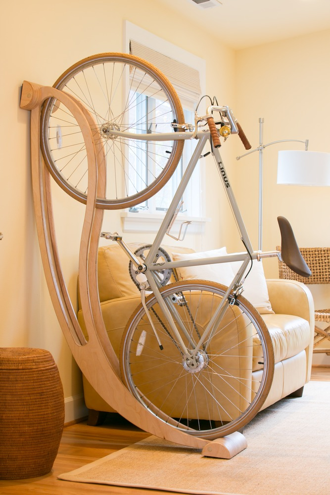 bike mount rack vertical pressure apartment two stand for storage cosmecol