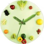 Vegetarian themed wall clock idea