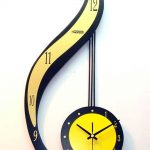 Very cool fancy wall clock in black and yellow