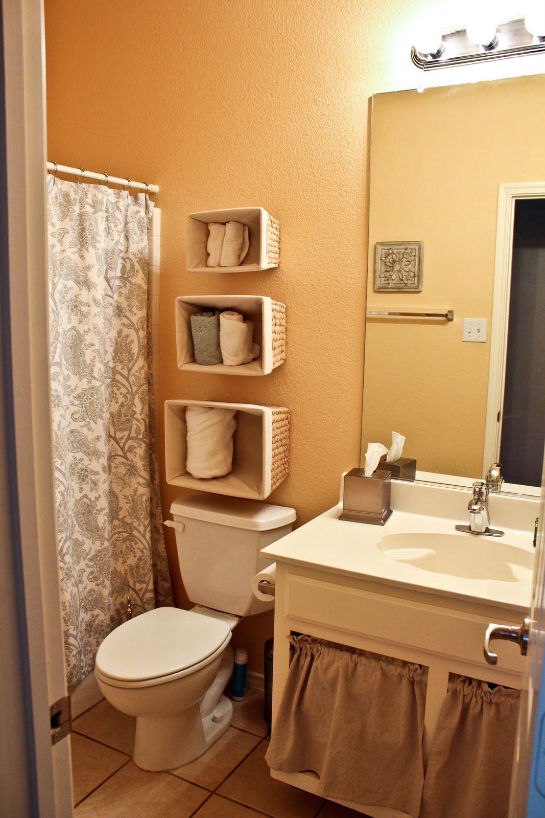 Bathroom storage for towels - Wall Mounted Storage Of Bathroom Storage For Towel