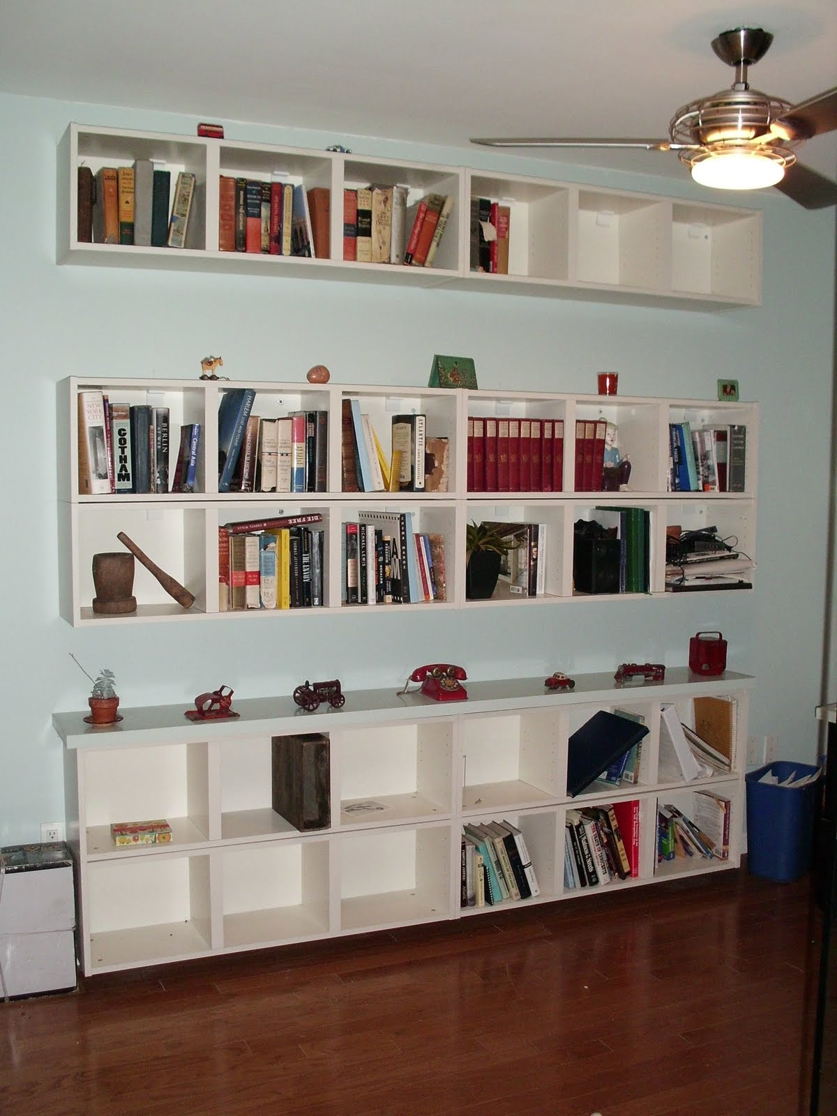 Wall shelves for books design homesfeed wall shelves for books near room fan amipublicfo Image collections