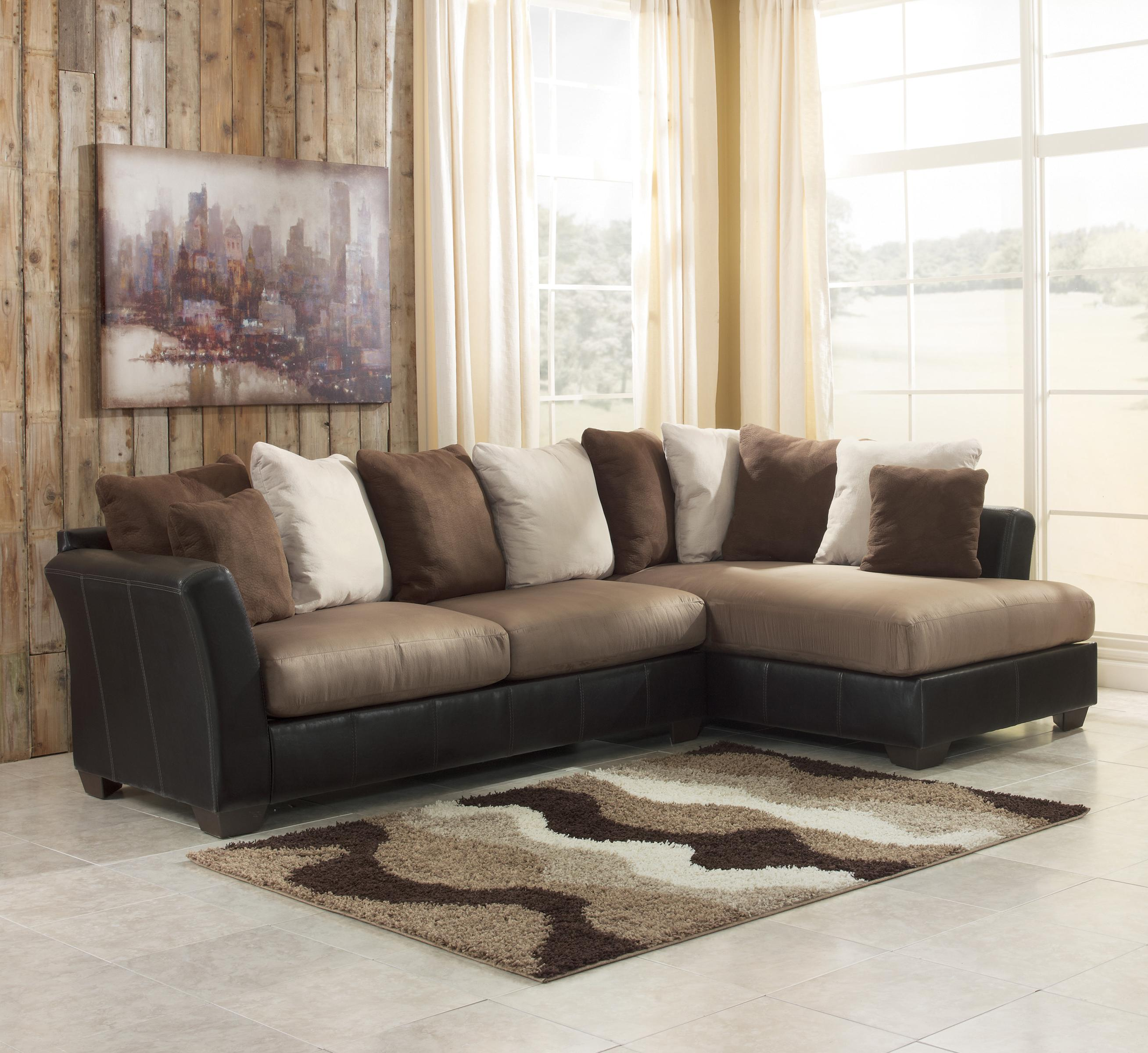 2 piece sectional sofa with chaise design homesfeed for Chaise design coloree