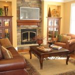 Warm Living Room Furniture Arrangement Layout
