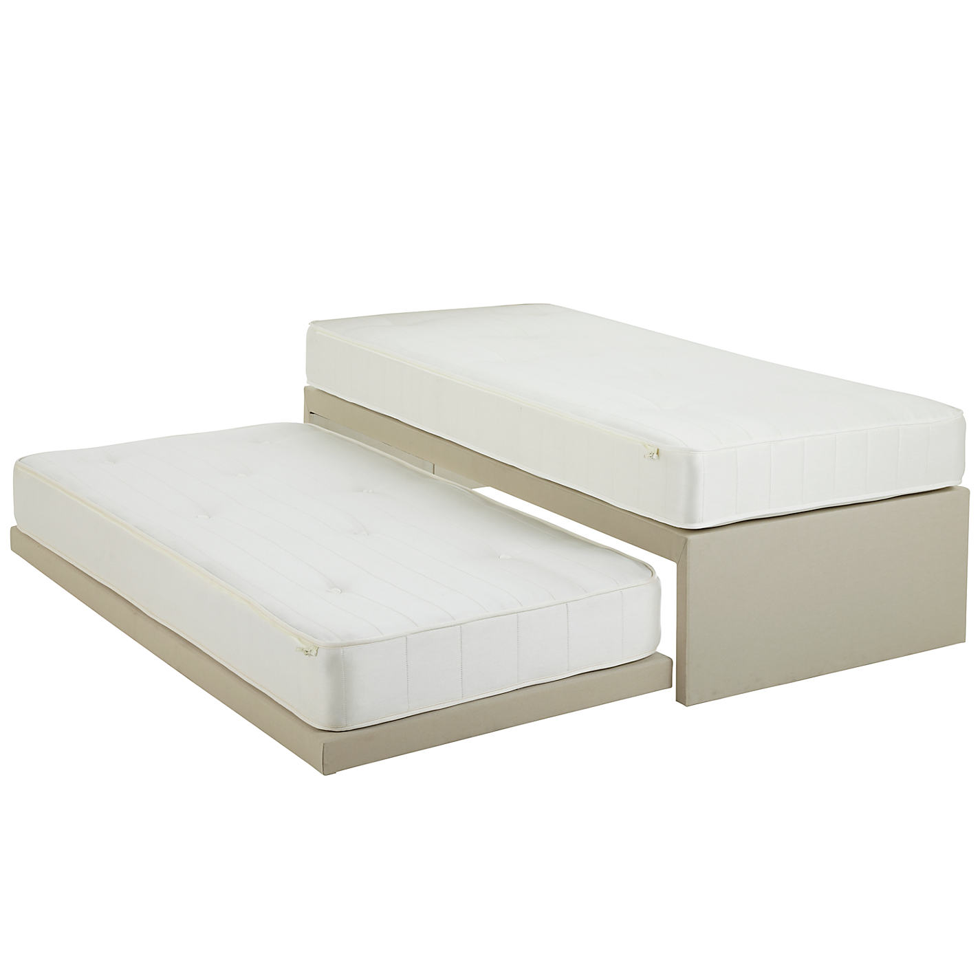 Single bed with guest bed underneath - White Guest Bed Solution
