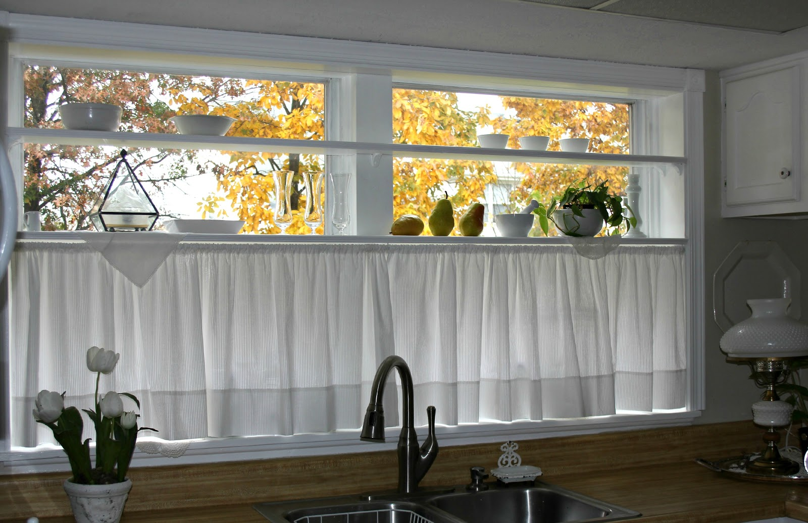 Kitchen Cafe Curtains Ideas Half Window Curtains Ideas Homesfeed