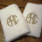White Monogrammed Towels