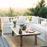 White Small Balcony Furniture Set