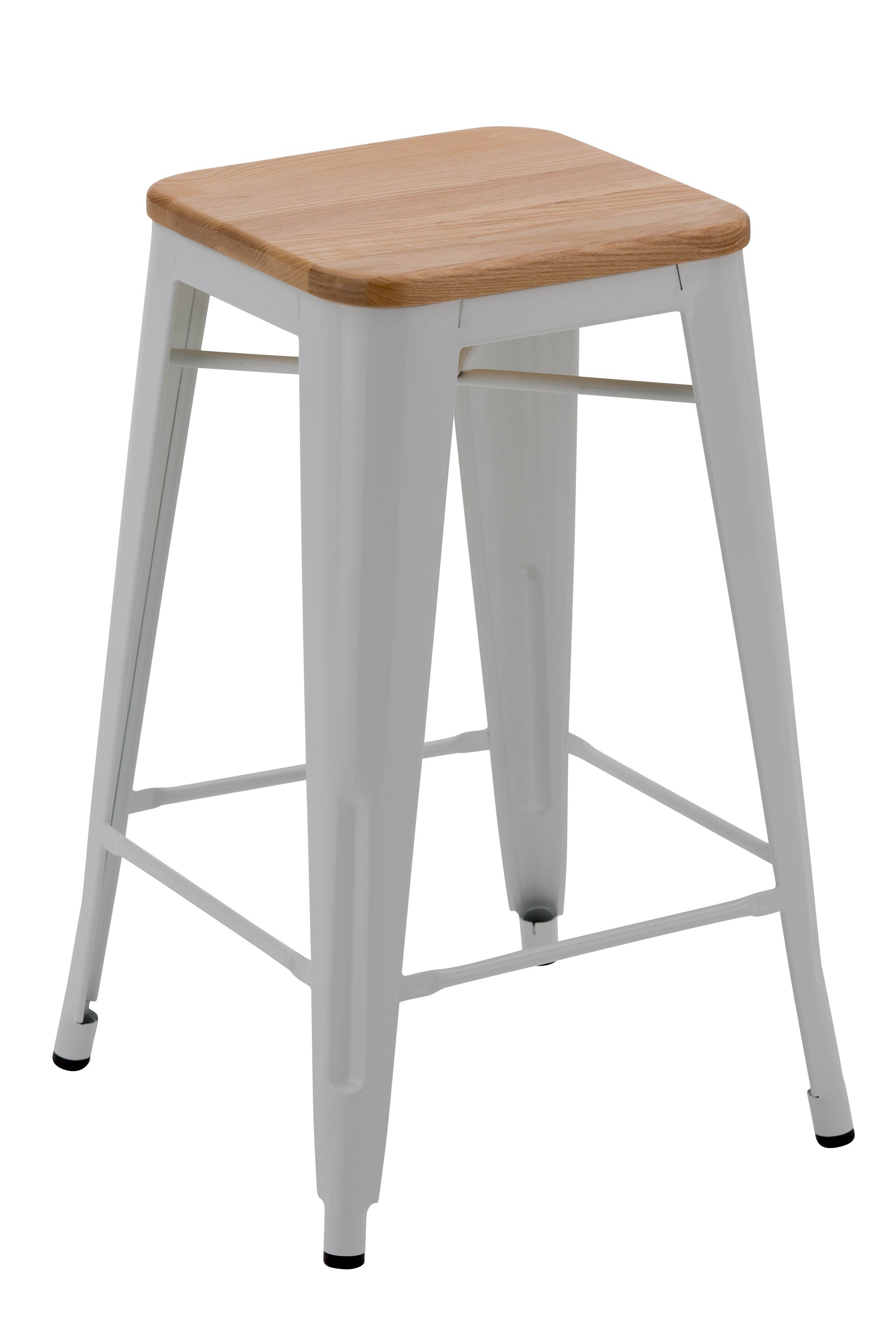 White wood bar stool town country