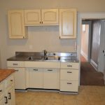 White Wooden Cabinet In Small Kitchen Cabinets To Go Reviews
