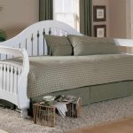 White coated wood pottery barn daybed unit with storage bedding and pillows grey shag rug idea